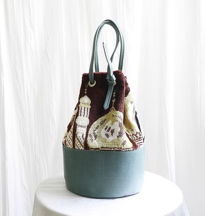 CIRCLE GOBELIN  BAG    /  GREEN