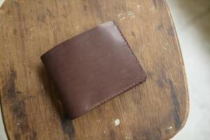 コンクの二つ折り財布 茶 001