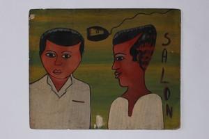 ビンテージ マリ 床屋の看板  SALON