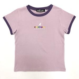 ZIDDY ジディー 【KANGOL×ZIDDY】カラフル ロゴ 刺繍 リンガーTシャツ 1235-325459
