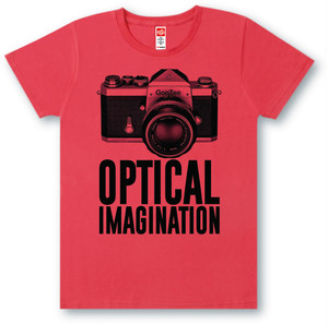 #467 Tシャツ OPTICAL/RED