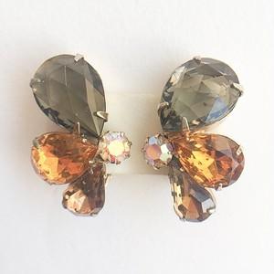 brown  rhinestone earring[e-992]