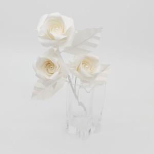 6/1発売【父の日】プレゼント! 一輪のバラ折り