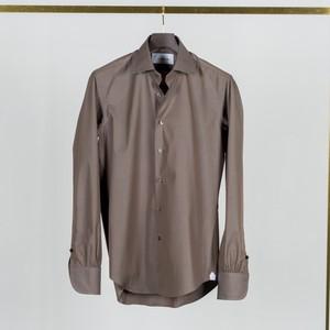 LEON 別注「冬の袖まくり専用シャツ/ブラウン」[受注生産]