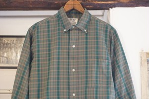 50's Pennleigh by W.T.GRANT plaid cotton B.D. Shirt