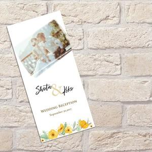 SJ01【サンプル】結婚式席次表