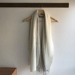 手織りカシミヤマフラー handwoven cashmere scarf