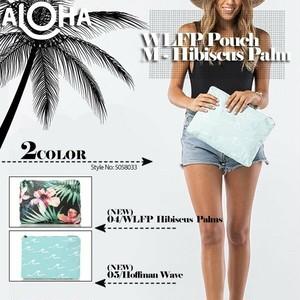 アロハコレクション 撥水ポーチ レディース 新作 ギフト マルチカラー 青 A4サイズ タイベック Aloha Collection Transfer Pouch Mサイズ 5058033