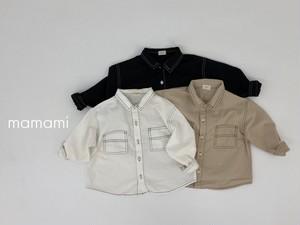 即納 mamami / ステッチシャツ