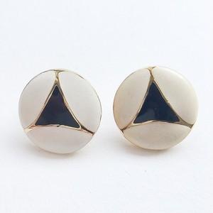 white & black enamel pierce[p-276]