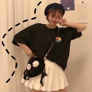 【トップス】刺繡カジュアルシンプル合わせやすい人気Tシャツ