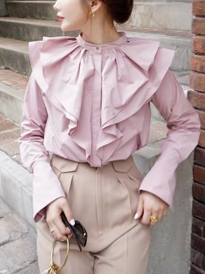 【予約】flower petal blouse / pink (10月下旬発送予定)