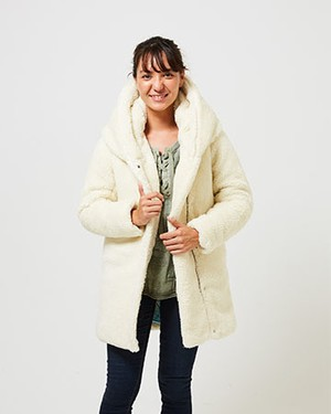 HOODING DOWN TOO TOK COAT/OFF WHITE