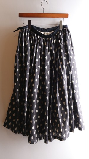 R&D.M.Co-/OLDMAN'S TAILOR オールドマンズテーラー Artichoke Gather Skirt アーティチョークギャザースカートBLACK【お問い合わせ商品】
