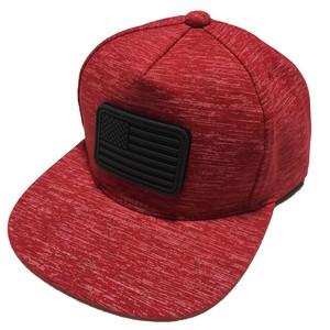 [A or J] Rubber Wappen Melange Cap / Red