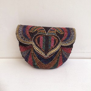 vintage beads shoulder & cluch bag