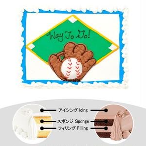 【予約】コストコ ハーフシートケーキ ベースボールケーキ | [Pre-order] Costco Half-sheet cake Baseball Cake