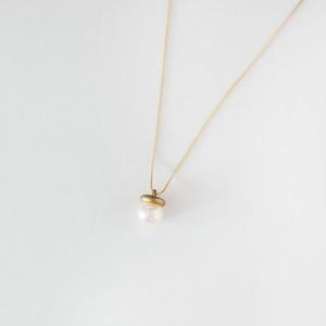 K10イエローゴールド アコヤ真珠 ネックレス ラージ
