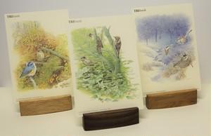 3種類の木で作ったポストカードベース