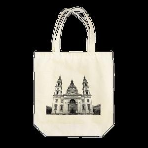 ハンガリー大聖堂のデッサン風トートバック