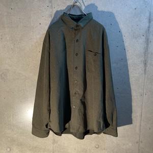 design fake suede shirt
