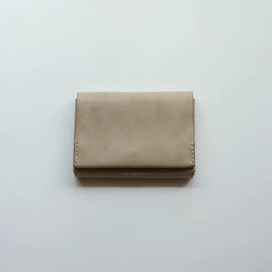 flat wallet - white beige - ALASKA