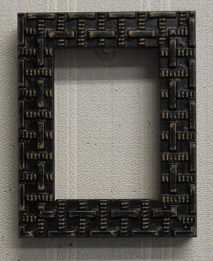 額縁アンティークおしゃれフレーム黒D-37538額縁サイズ90mm×65mm窓枠サイズ80mm×55mm2mmアクリル裏板付壁掛け用/箱なし