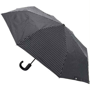 フルトン FULTON ワンタッチ折りたたみ傘 雨傘 G818 CSBS OPEN & CLOSE ブラックストライプ