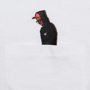 "Stitch by Stitch ""The Professor"" Pocket LS Tee white"