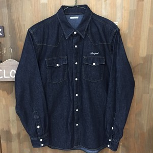 オリジナル Western taste street denim shirt