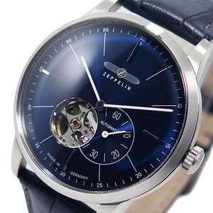ツェッペリン ZEPPELIN フラットライン 自動巻き メンズ 腕時計 7364-3 ネイビー ネイビー