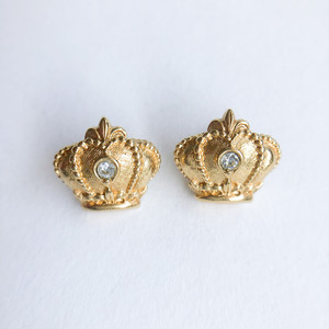 """AVON"" Regal Crown pierce[p-711] ヴィンテージピアス"