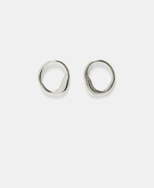 ORGANIC ZINC-PLATED EARRINGS [259173006202]