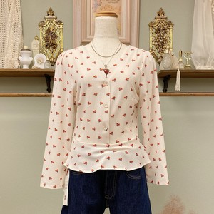 cherry pattern blouse
