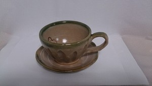 コーヒーカップ&ソーサーセット(梅)