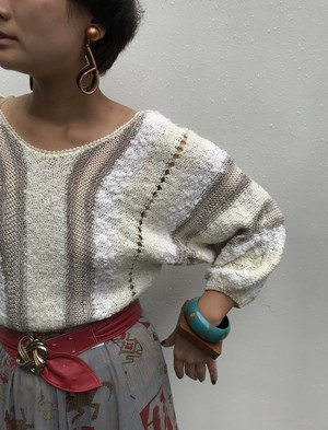 80s white knit tops