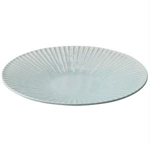 瀬戸焼 伍春窯 そぎ SOGI カレー皿 パスタ皿 プレート 8.5寸 約26cm スカイ ブルー 127-0406