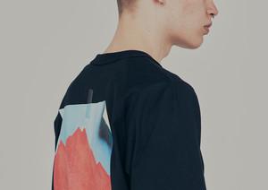 "elephant TRIBAL fabrics  ""eqaulette sleeve t-sh(kenta iriguchi)"""