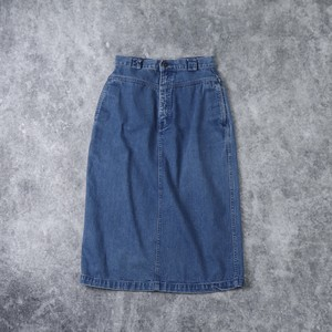 レディース 80年代 ユーズド デニムスカート アメリカ古着 インディゴブルー  L  80's Usa Used  Denim Skirt