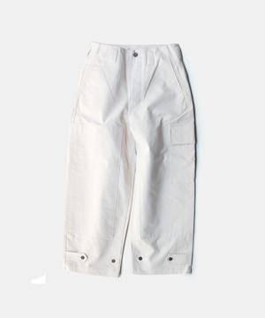 amachi. Double Knee Cargo Pants Off White