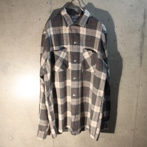 60s Check Wool Shirt