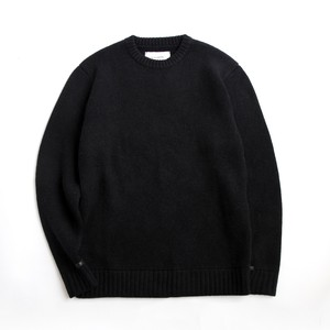 THE INOUE BROTHERS/Low Gauge/Milano Crew Neck Sweater/Black
