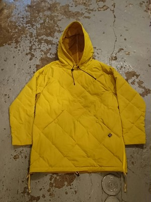 "COMFY OUTDOOR GARMENT ""PULLOVER STRETCH DOWN HOODIE"" Mustard Color"