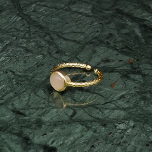 SINGLE MINI STONE RING GOLD 048