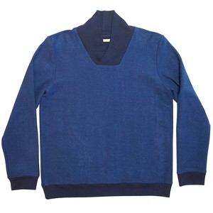 FRANK LEDER SHAWL COLLAR SWEAT BLUE