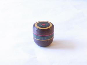 日本製 木製 中棗 独楽筋 沈刻独楽 溜