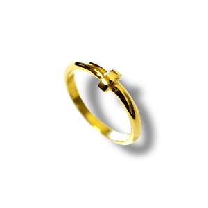【送料無料】K18Gold Crux Nail Ring 7号【品番 18S2005】