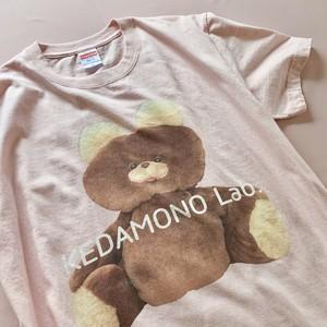 〈KEDAMONO Lab. 〉むくみちゃんTシャツ ピンク