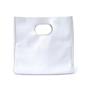 Box Leather  Bag/WHITE