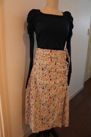 大人可愛いスカート BEAMS BOY  ビームスボーイ コーデュロイ ラップスカート